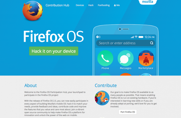 Firefox OS Participation Hub Preview