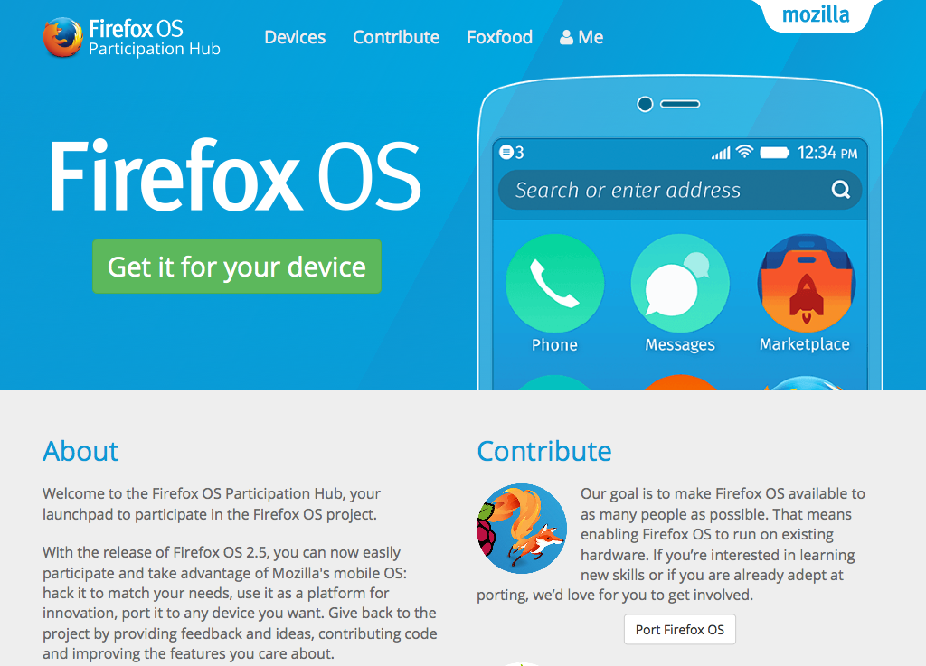 Firefox OS Participation Hub