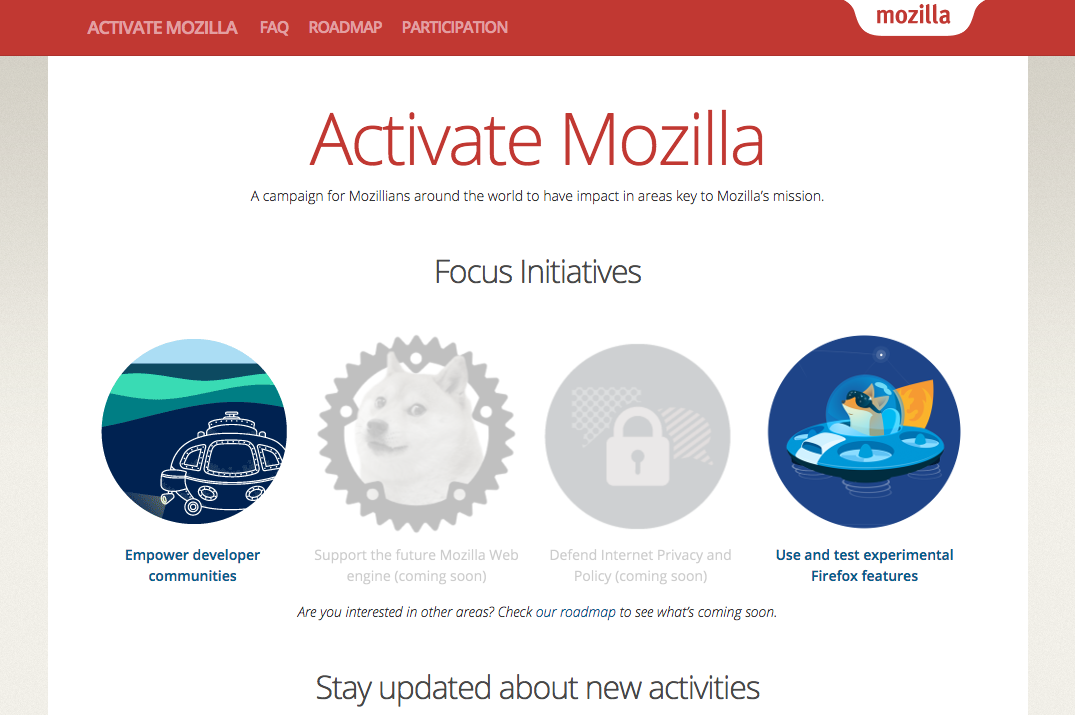 Activate Mozilla Site